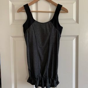 Lululemon Run Times Tank Built in Bra Black Gray